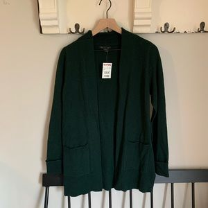 NWT Rachel Zoe emerald green knit open cardigan M